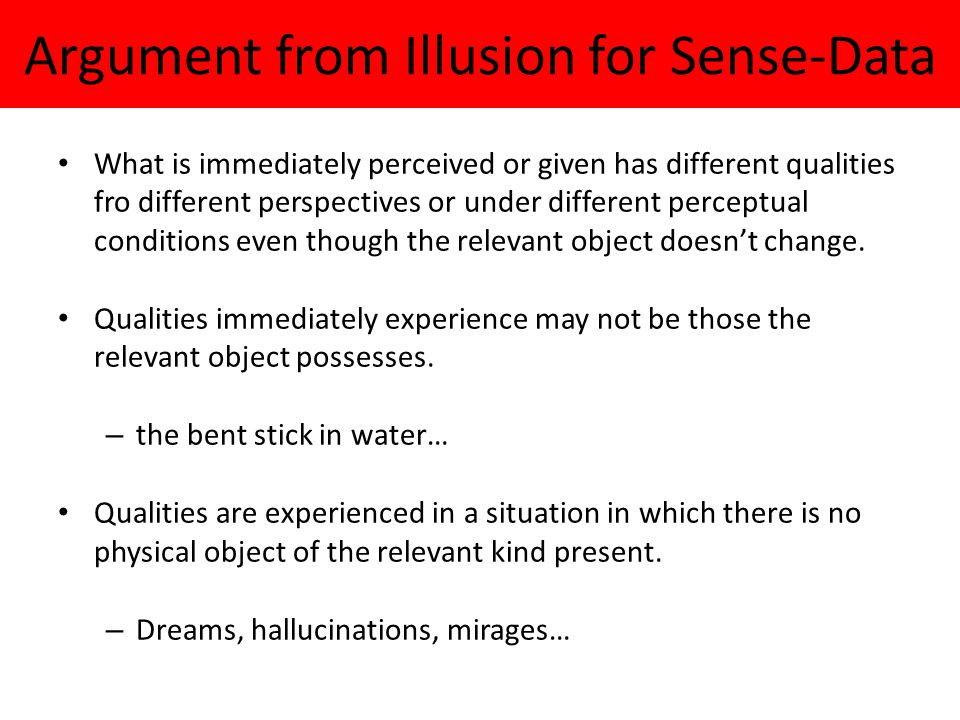 Argument from Illusion for Sense-Data