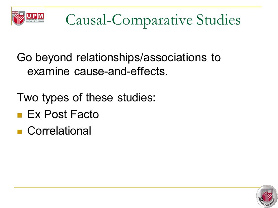 Causal-Comparative Studies