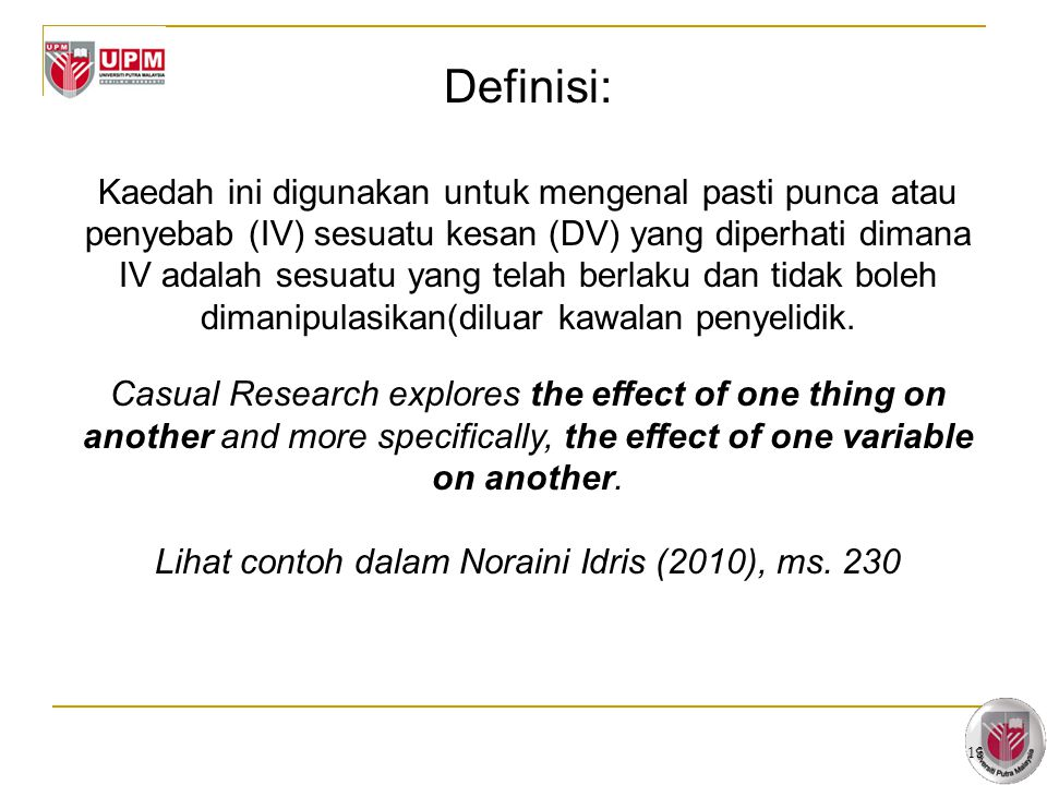 Lihat contoh dalam Noraini Idris (2010), ms. 230