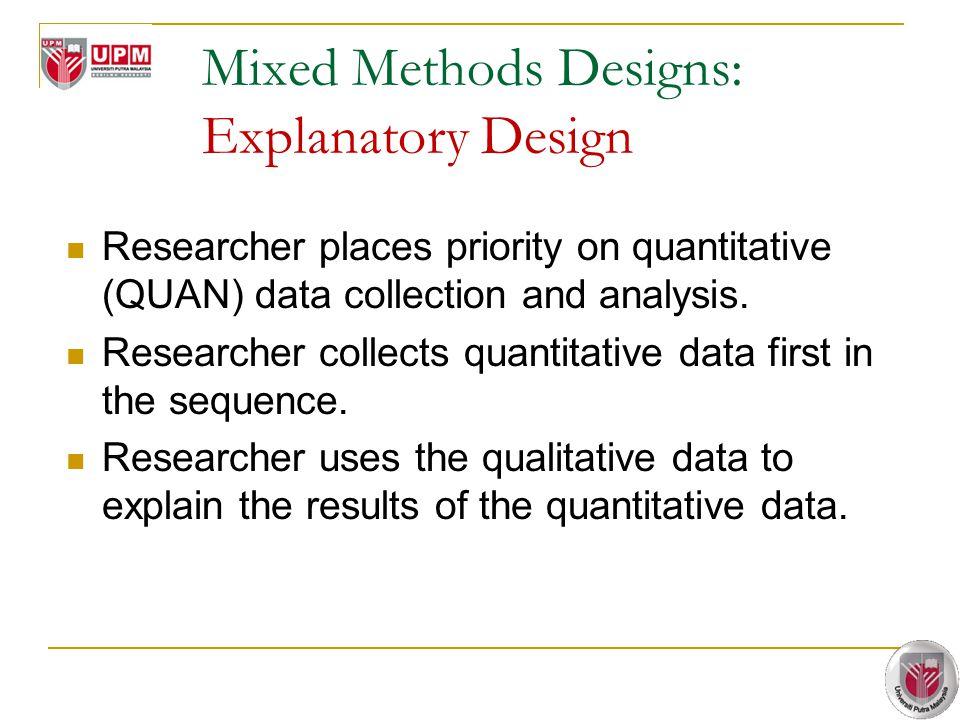 Mixed Methods Designs: Explanatory Design