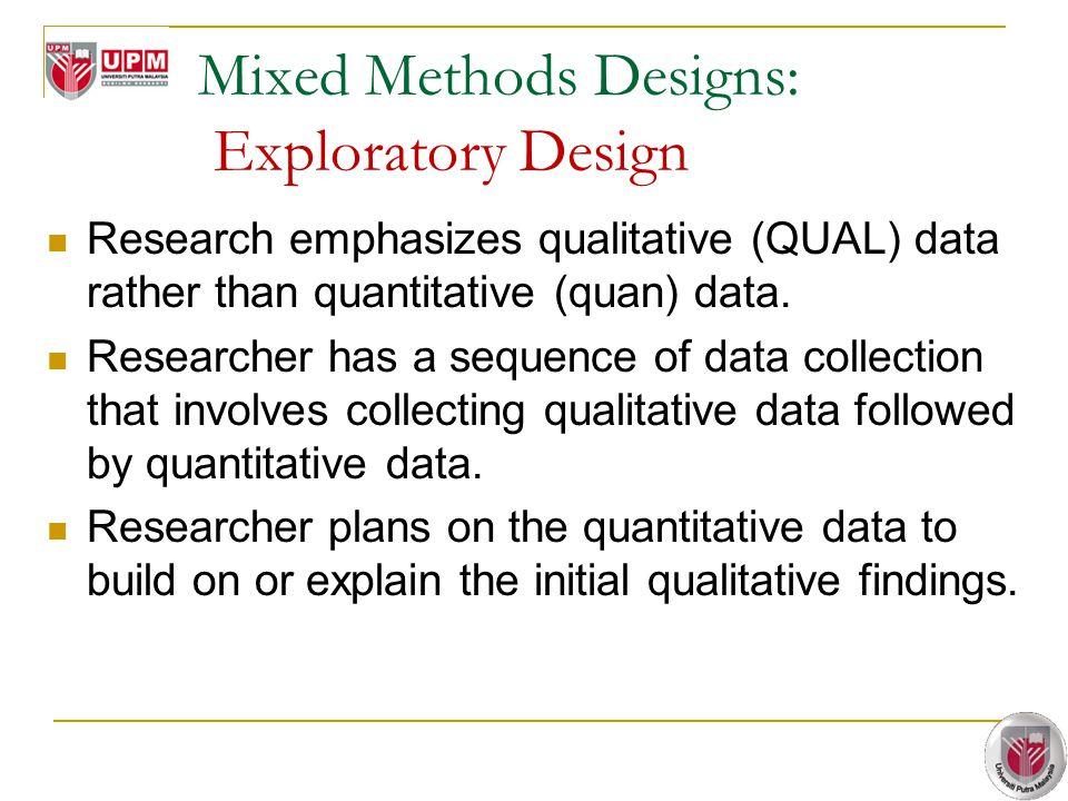 Mixed Methods Designs: Exploratory Design