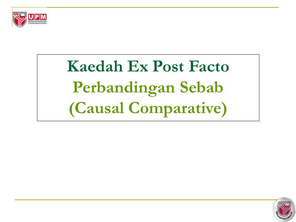 Kaedah Ex Post Facto Perbandingan Sebab (Causal Comparative)