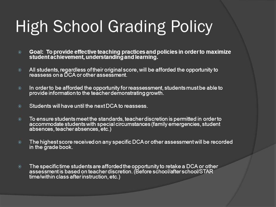 High School Grading Policy