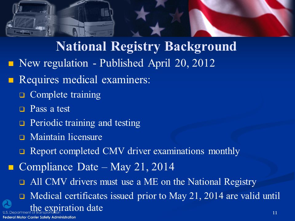 National Registry Background