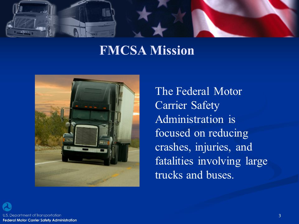 FMCSA Mission