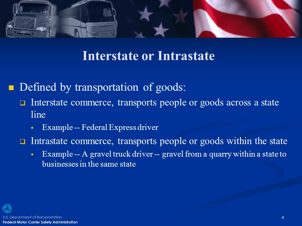Interstate or Intrastate