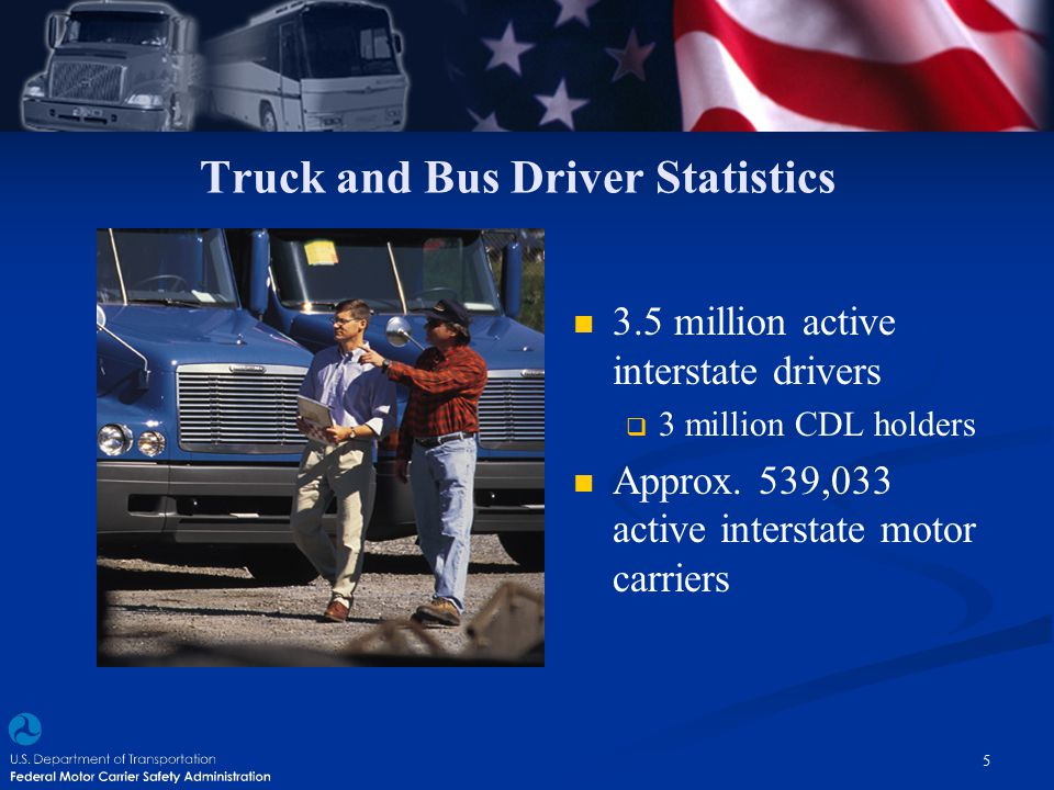 Truck and Bus Driver Statistics