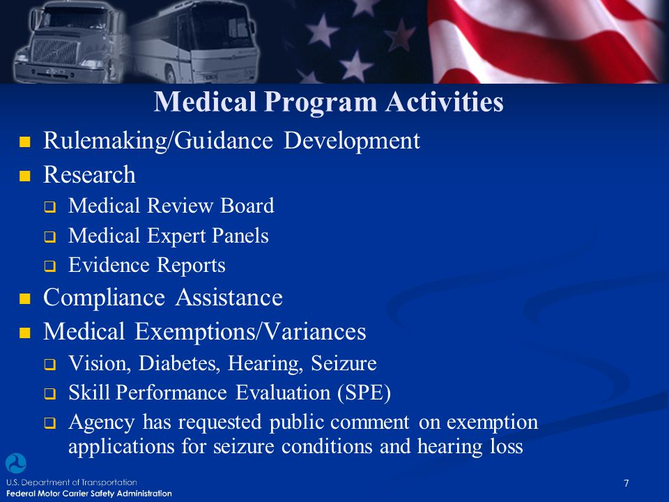 Medical Program Activities