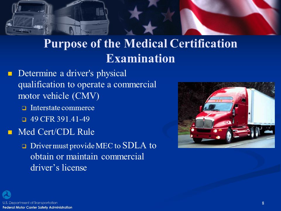 Purpose of the Medical Certification Examination