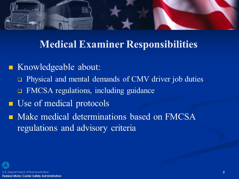 Medical Examiner Responsibilities