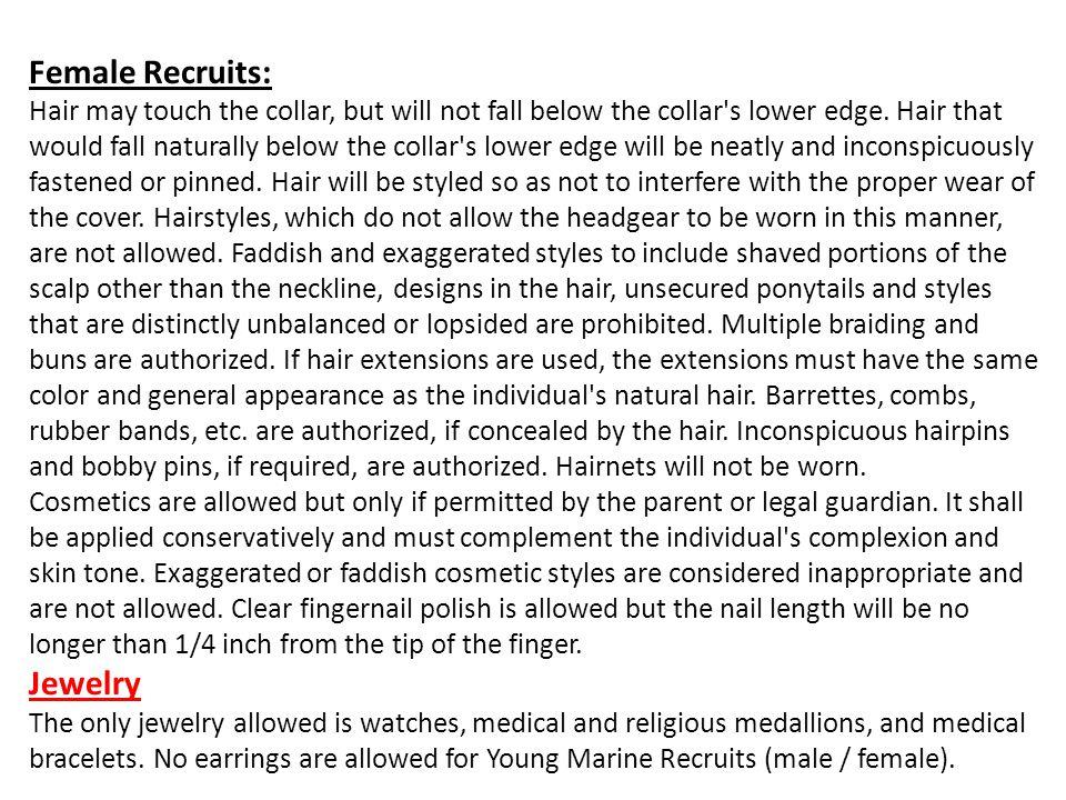 Female Recruits: Jewelry