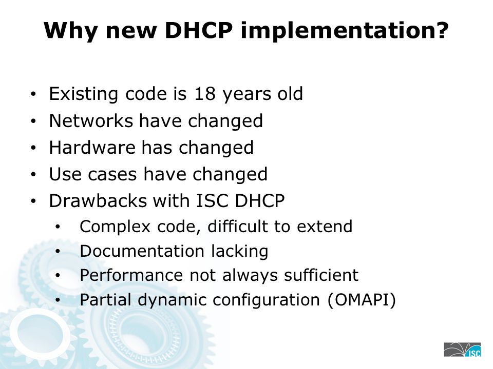 Why new DHCP implementation