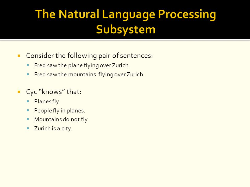 The Natural Language Processing Subsystem