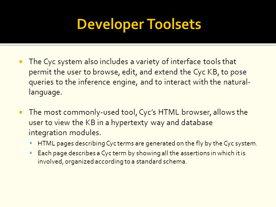 Developer Toolsets