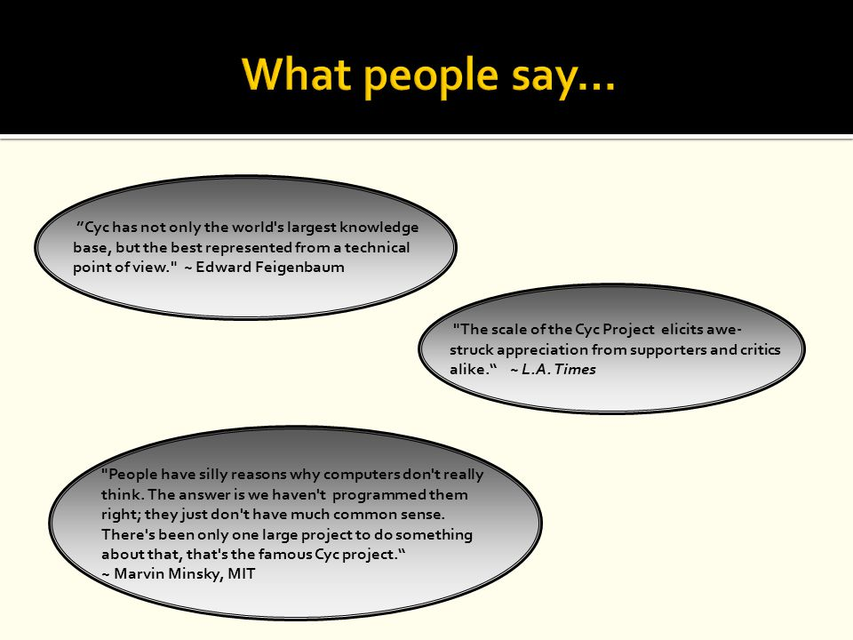 What people say…