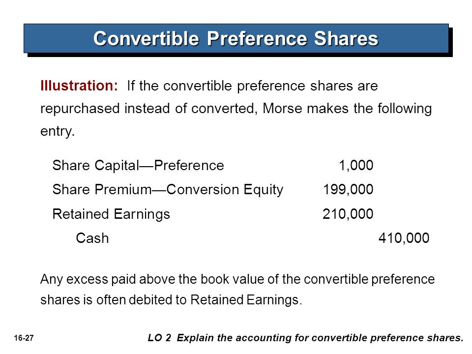 Convertible Preference Shares