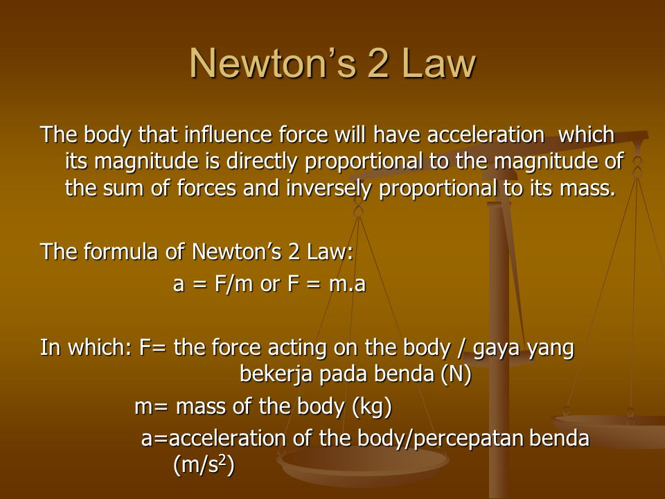 Newton's 2 Law