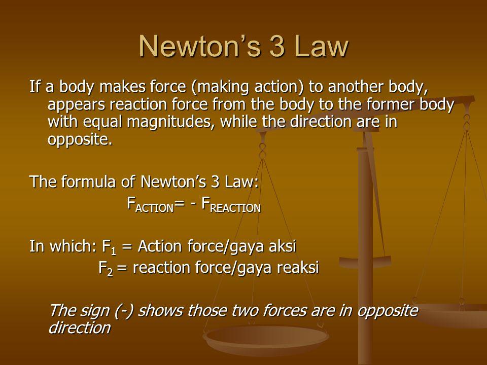 Newton's 3 Law