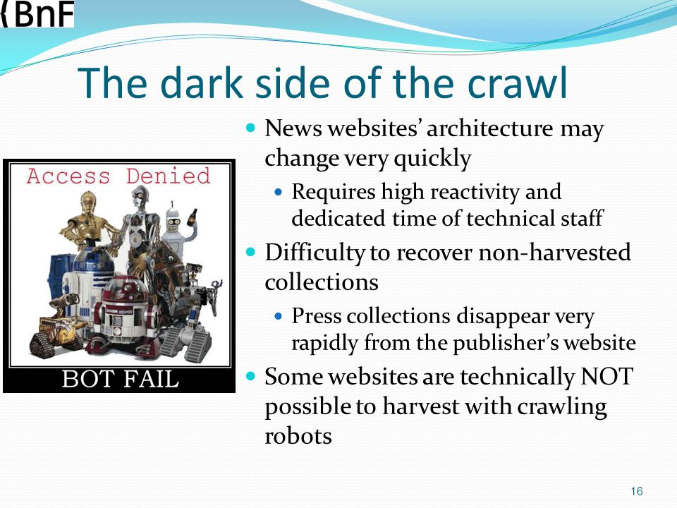 The dark side of the crawl