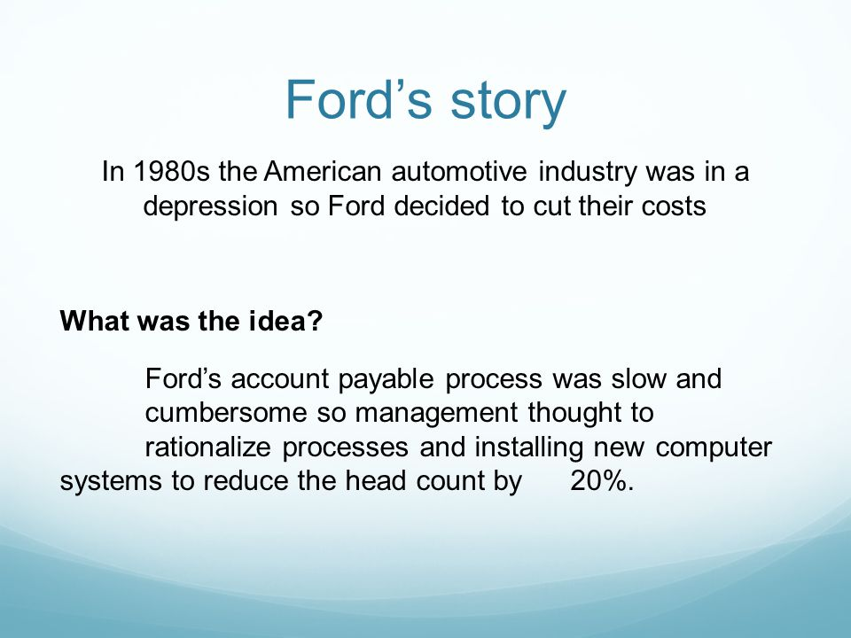 Ford's story