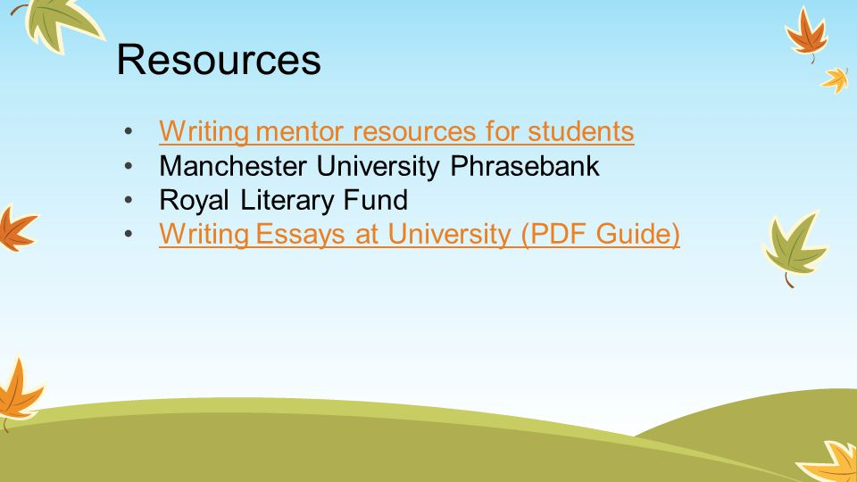 Manchester university essay writing help