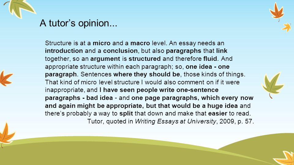 A tutor's opinion...
