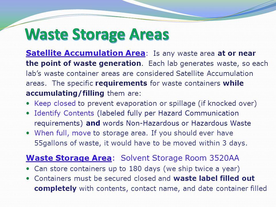 Waste Storage Areas