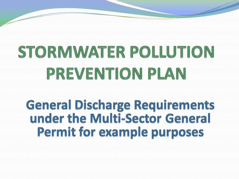 STORMWATER POLLUTION PREVENTION PLAN