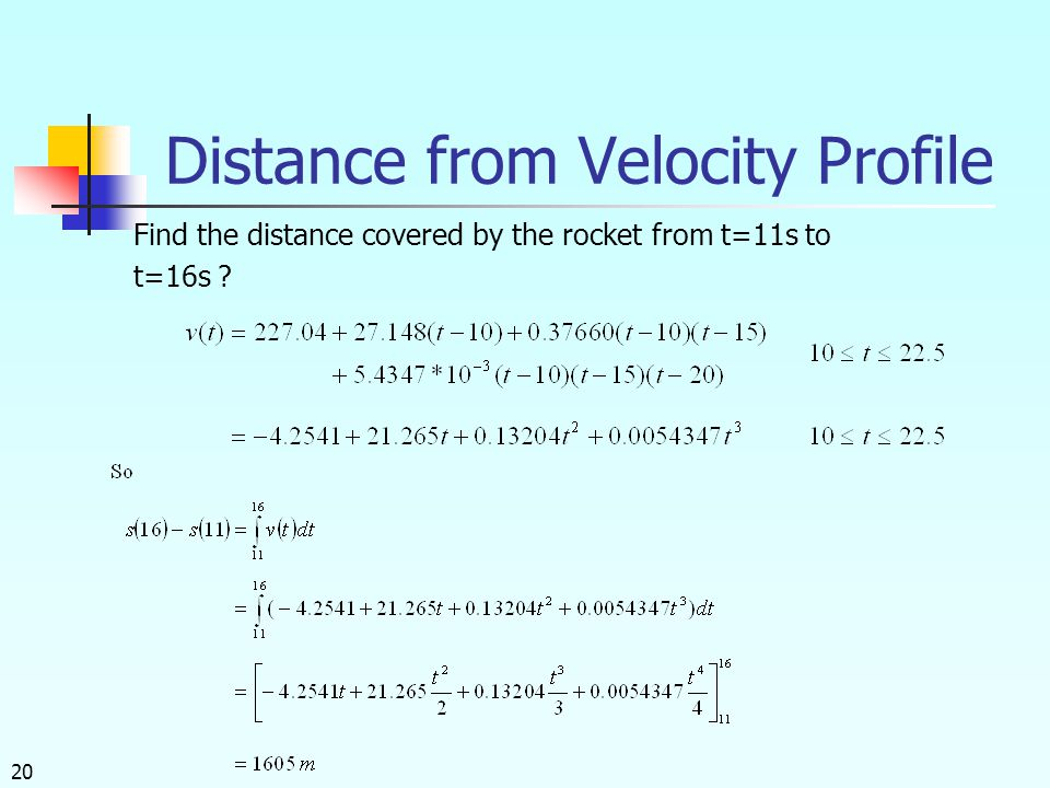Distance from Velocity Profile