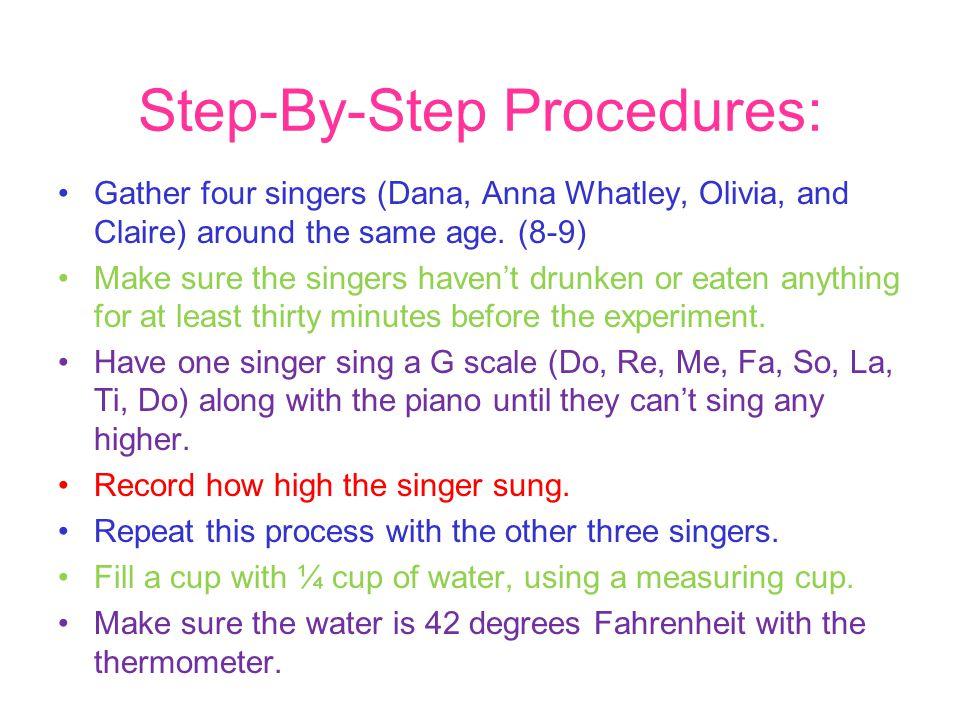 Step-By-Step Procedures: