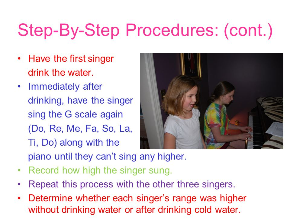 Step-By-Step Procedures: (cont.)