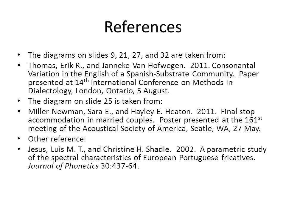 References The diagrams on slides 9, 21, 27, and 32 are taken from: