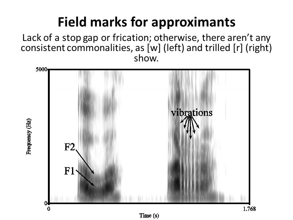 Field marks for approximants