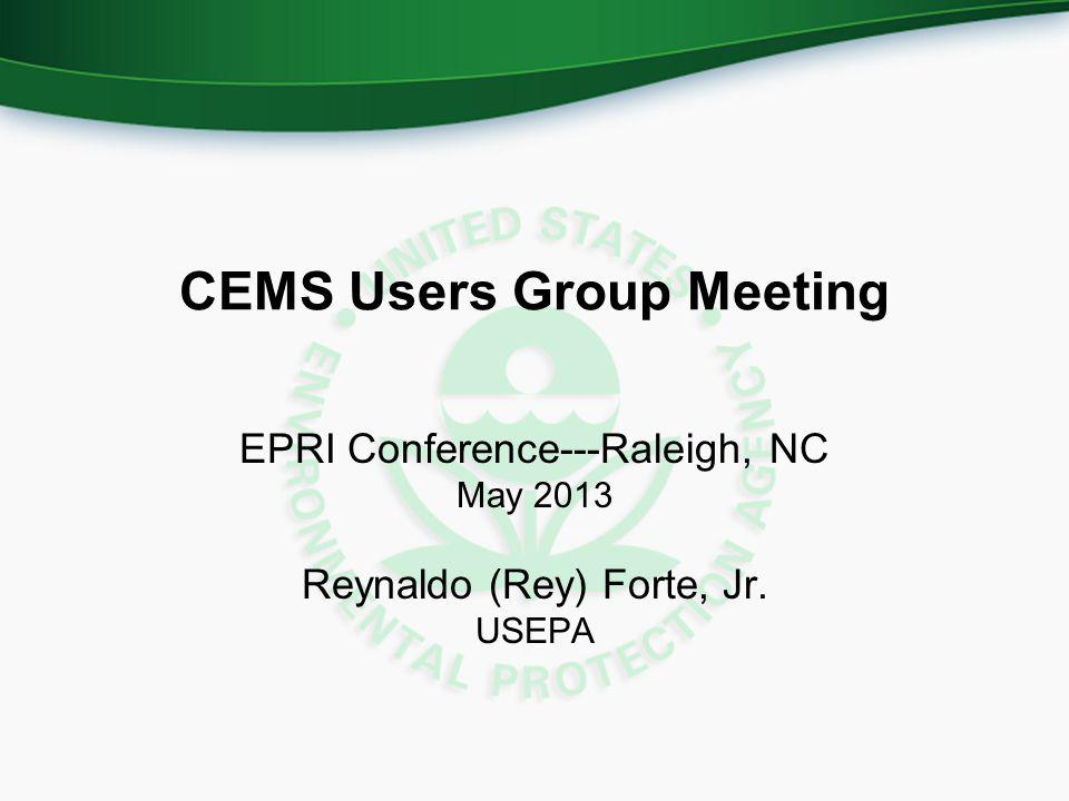 CEMS Users Group Meeting