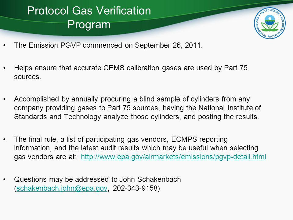 Protocol Gas Verification Program