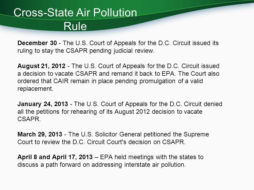 Cross-State Air Pollution Rule