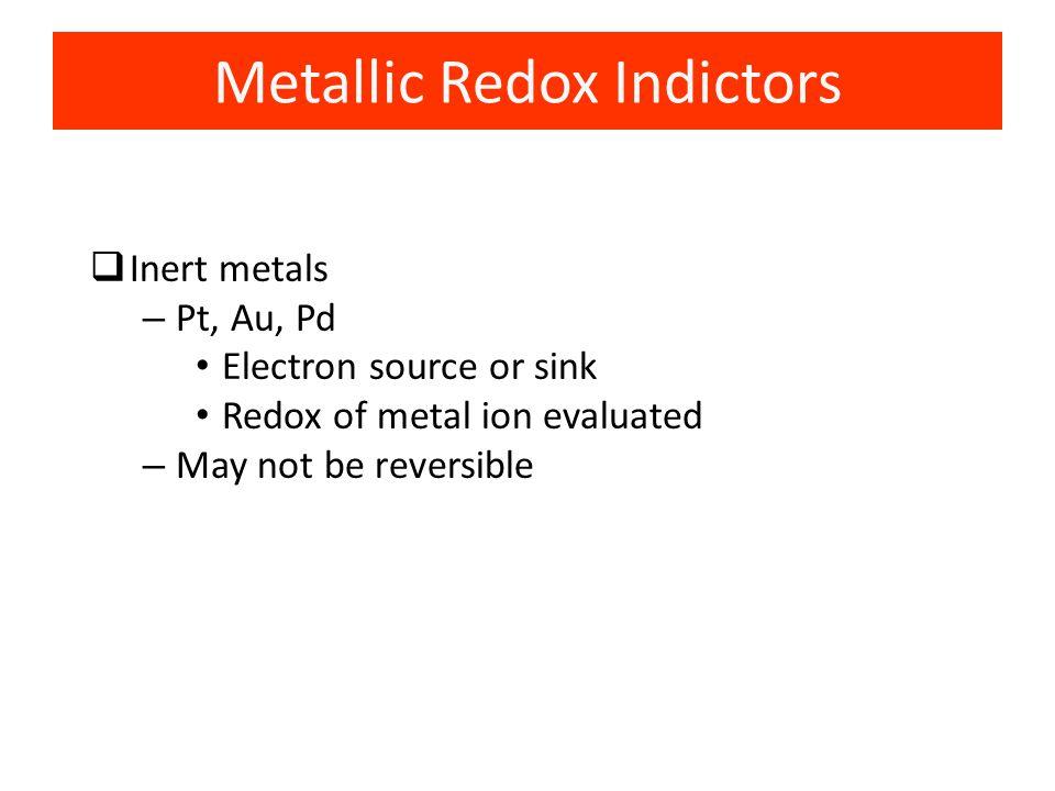 Metallic Redox Indictors