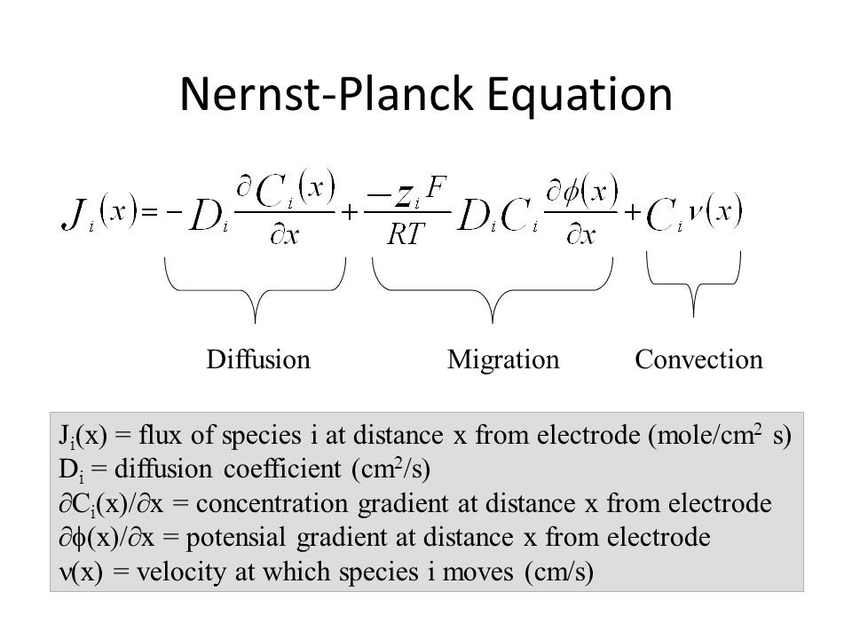 Nernst-Planck Equation