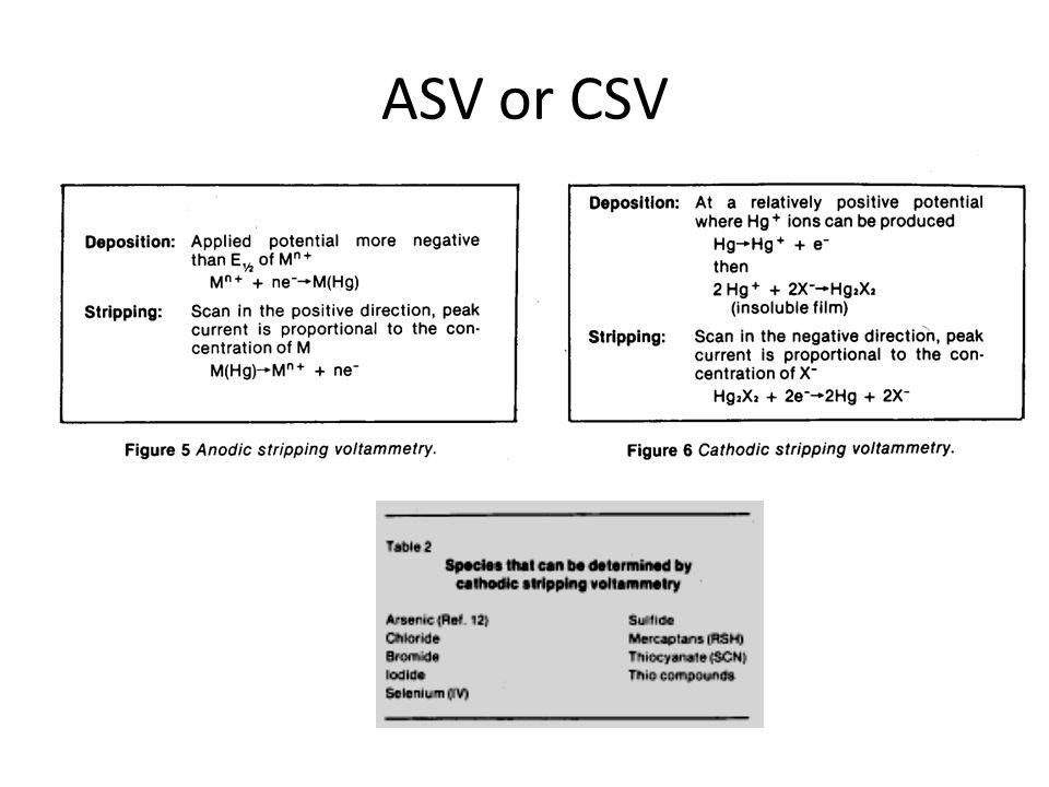ASV or CSV