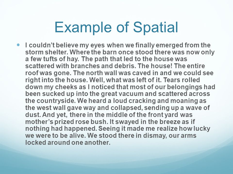 Example of Spatial