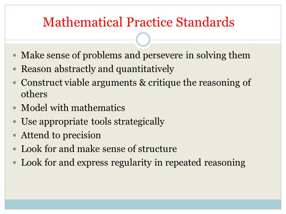 Mathematical Practice Standards