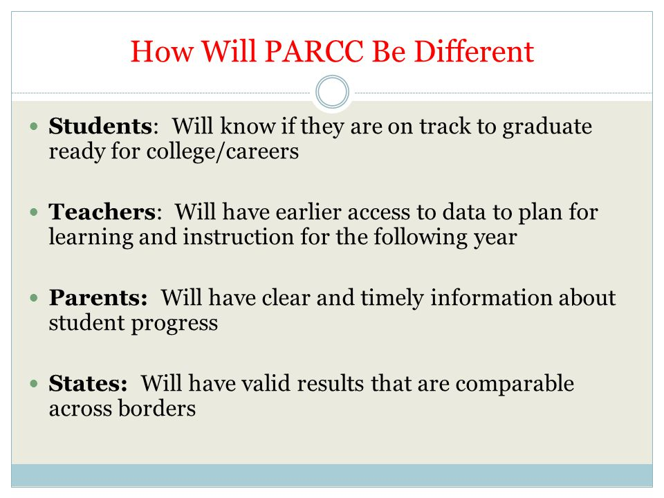 How Will PARCC Be Different