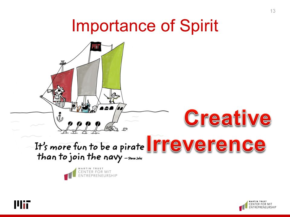 Importance of Spirit Creative Irreverence