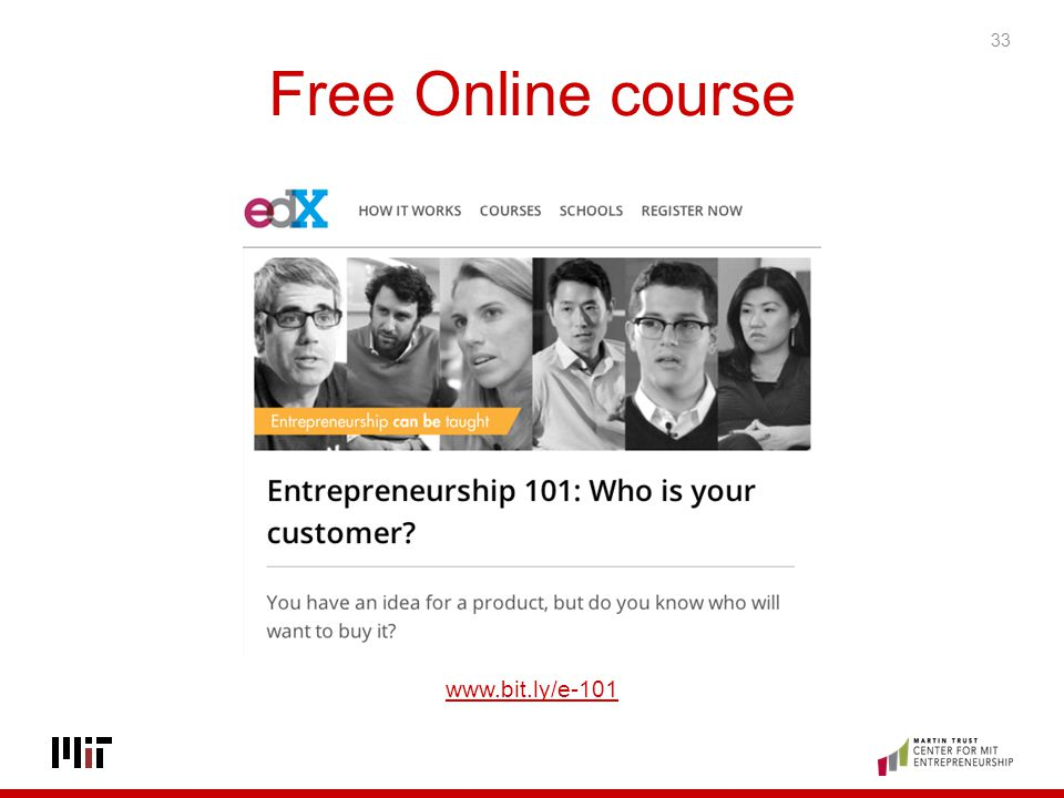 Free Online course www.bit.ly/e-101