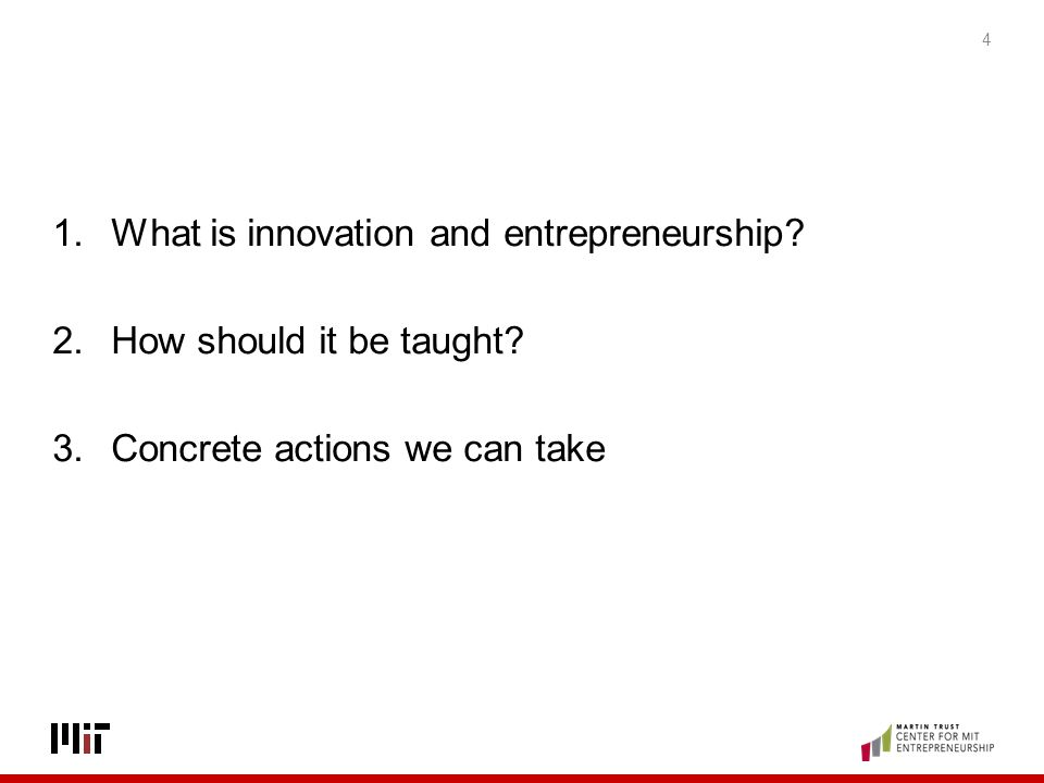 What is innovation and entrepreneurship
