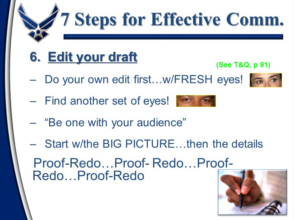 7 Steps for Effective Comm.
