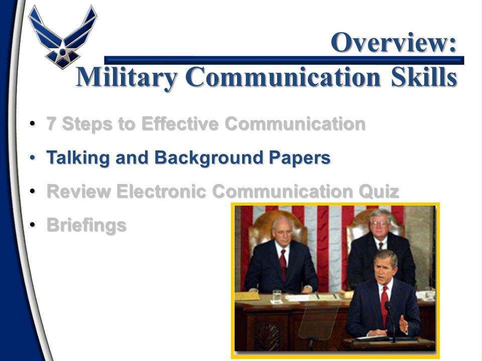 Overview: Military Communication Skills