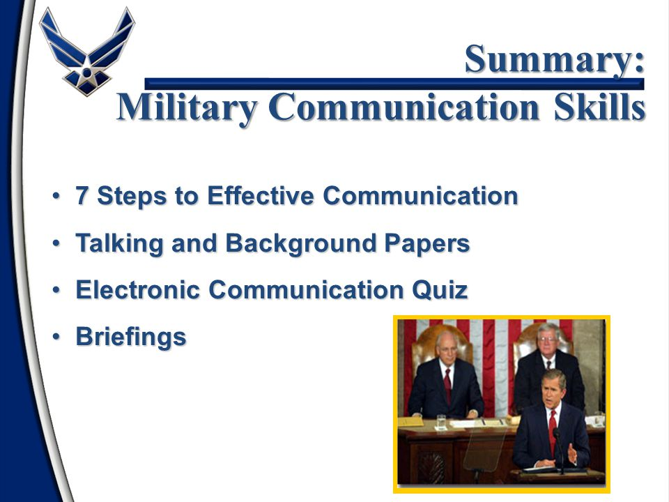 Summary: Military Communication Skills
