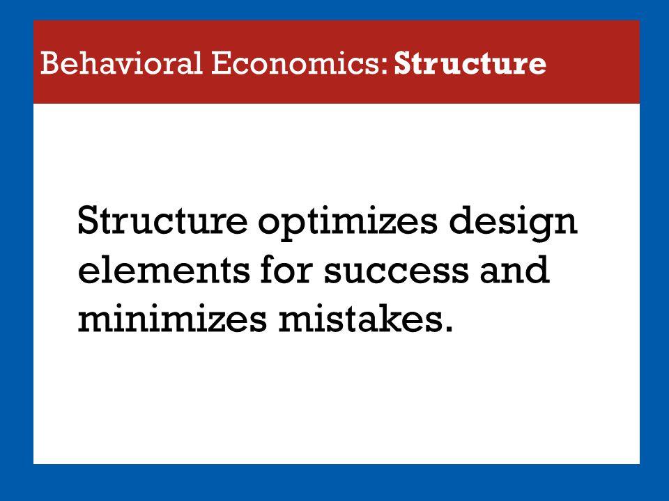 Behavioral Economics: Structure