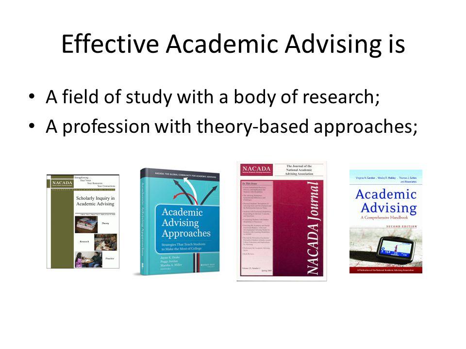 Effective Academic Advising is